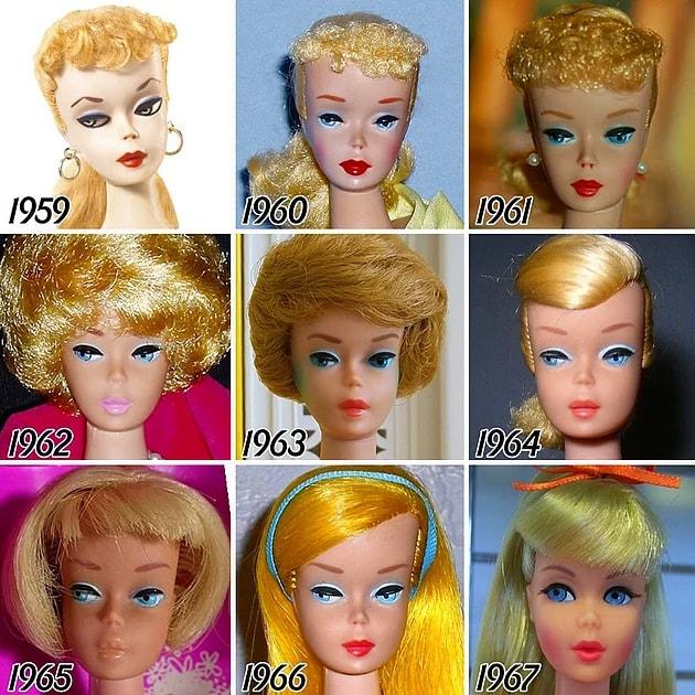 Barbie'nin yıllar içindeki değişimi
