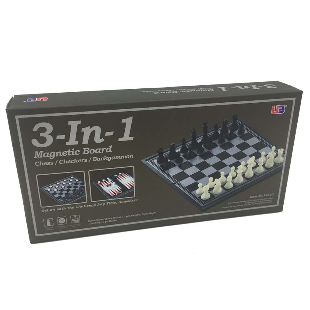 3in 1 Manyetik Satranç Tavla Dama Oyun Seti Satın Al